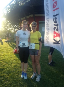My daughter and I after the race