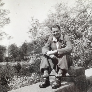 My father at my favorite spot in Copenhagen,The Gefion Fountain May 1945