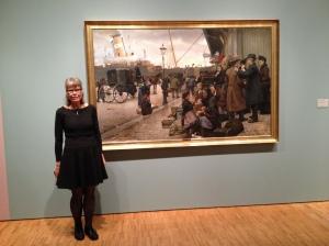Danish Painting on emigrating /Aros museum