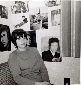At my room in 1966 surrounded by Donovan and Bob Dylan