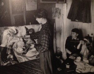 Both Carl-Henning and Else were painters and could only work one at a time in their flat in Copenhagen 1942