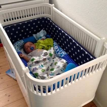 a restored old Juno cot bed. Image belongs to Lene Kullen Hansen