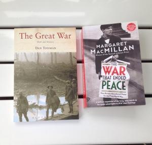 Books I bought in Foyles in London in 2014 on WWI