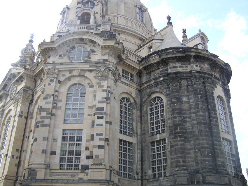 The Frauen Kirche. The black stones replaced