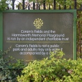 Sign at Coram'sfields