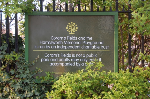 Sign at Coram's fields
