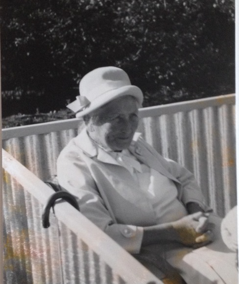 My grandmother Asta in our garden about 1966