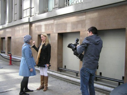Interviewed by Karen from the NY runners' television