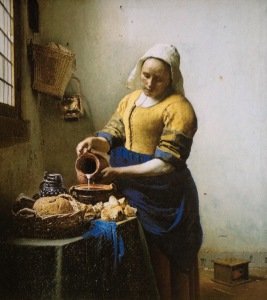 The Milk maid by Vermeer at the Rikjs Museum Amsterdam