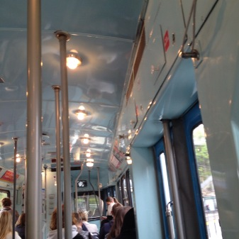 interior from and old-fashioned tram