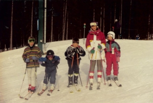 Me and my children in Sweden 1993