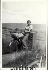 Eva on her bike