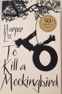 "The book cover on ""To Kill a Mockingbird"""
