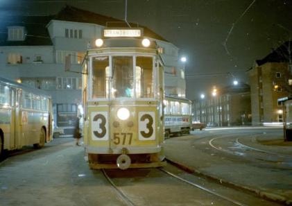 A tram in Copenhagen