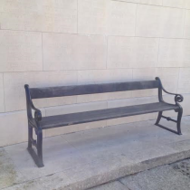 Old bench at the war memorial