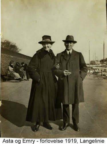 Morfar og mormor ved Langelinje 1919