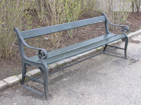 A bench at Langelinje