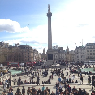 View of Trafalgar Sq. from the National Gallery