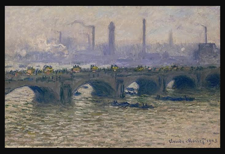 Monet's Waterloo Bridge at the Ordrupgaard Museum in Denmark