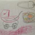 Original børnetegning fra min barndom af mityndlignsmotov