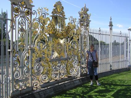 A gate at Hampton Court