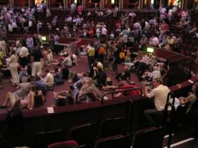 At the interval at the Royal Albert Hall