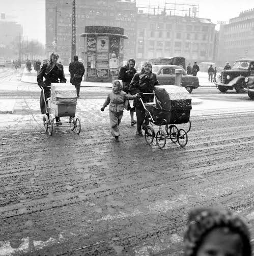 A winter day in Copenhagen in the 1950s Photo FB group