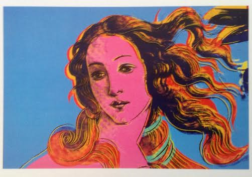 Detail from Renaissance painting Botticelli Birth of Venus 1482 Andy Warhol 1984