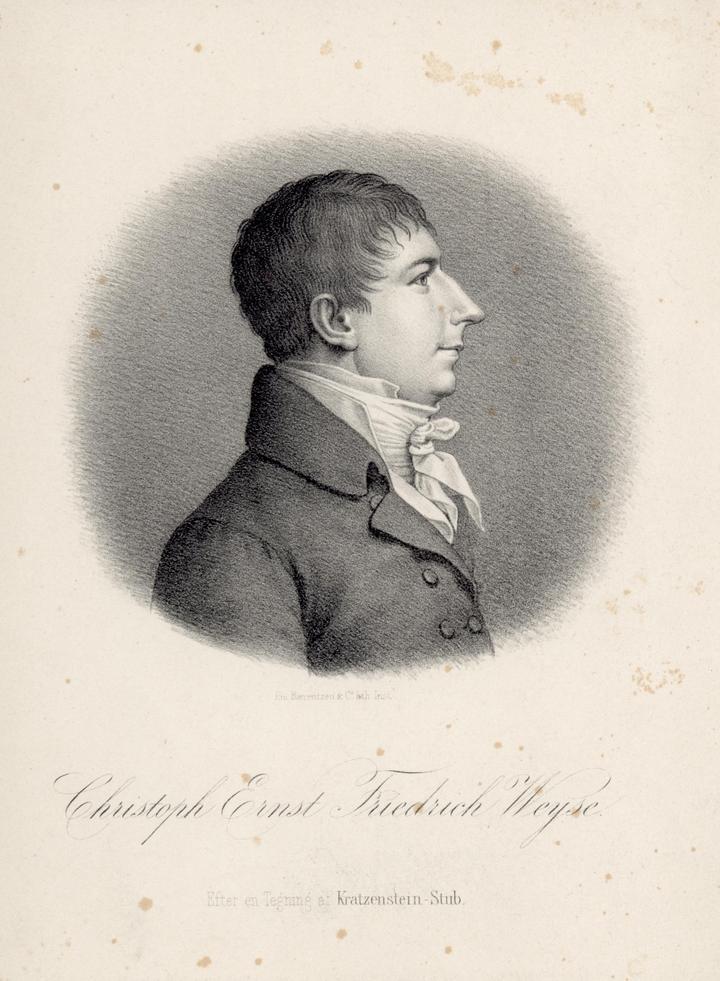 C.E.F. Weyse. Litografi efter tegning af Kratzenstein-Stub