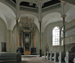 interior of Frederiksberg church