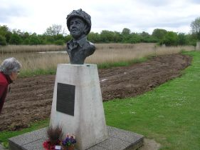 Bust of Major John Howard, coup-de-main Commander, Pegasus Bridge