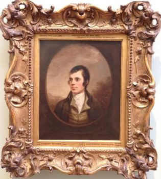 Burns at the Scottish Portrait Gallery
