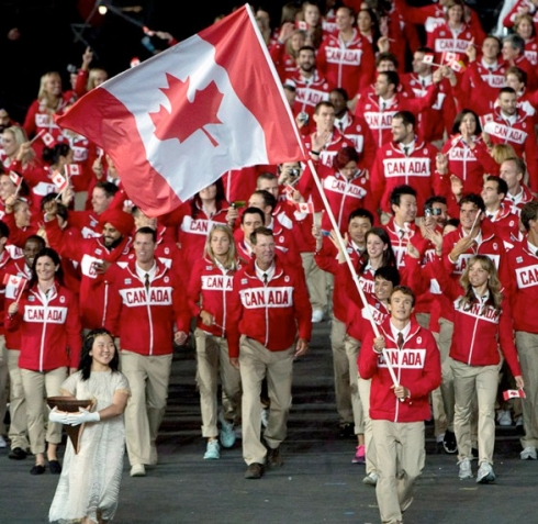 Triathlete, Simon Whitfield, Flag Bearer, Canada, 2012 Olympics