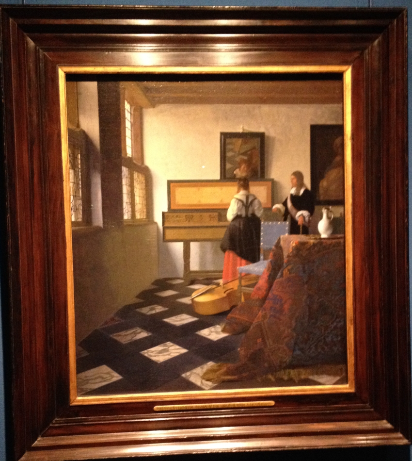 Vermeer's painting belonging to the Queen