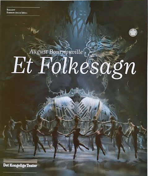 "The corp de ballet and the magic scenery at the August Bournonville ballet ""A Folktale"""