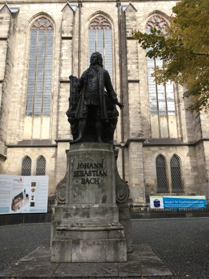 Bach Statue in front of the Thomas Church where he worked for 27 years