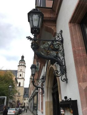 leipzig old lamp in a street