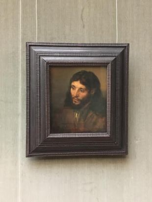 (1609-1669) Rembrandt's Jesus at Gemälde Gallerei in the former West Berlin