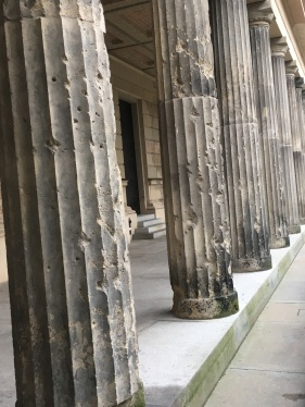 Columns from the Old National Gallery at Museum' Island Shrapnel damages from WWII