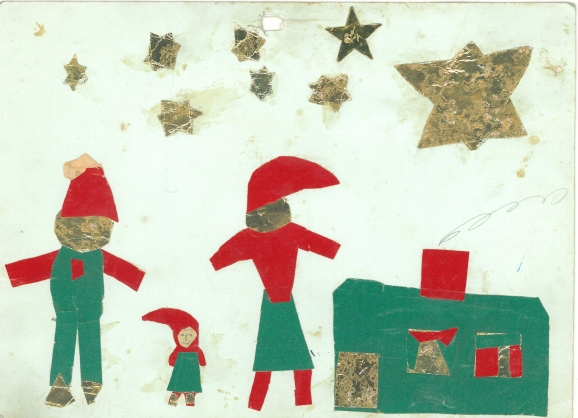 A Christmas cut. I remember that the stars were difficult to make