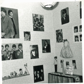 My room in 1964 with the Rolling Stones, Beatles