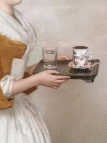 "Detail from the ""Chocolate Girl"" Jean-Étienne Liotard"