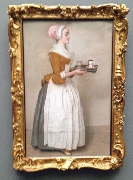 The Chocolate Girl, 1743-44 by Jean-Étienne Liotard at Dresden Gemälde Alte Meister