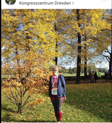 After the Half Marathon in Dresden October 2016