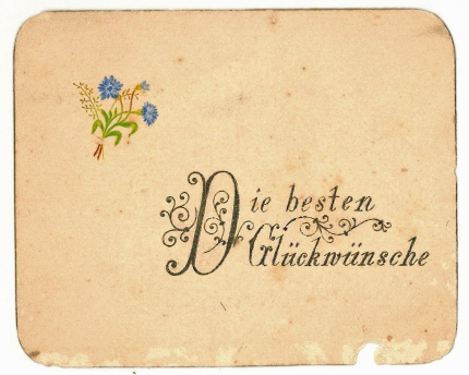 A greeting from an aunt ( in German)
