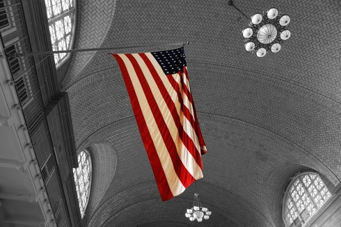 Stars and Stripes Ellis Island from Pixabay Public Domain
