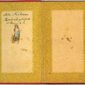 The children's book for helping to remember things. Asta's address at the time she was a schoolgirl from 1897- 1915