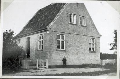 The new house close to the old one. William is about five years old 1930