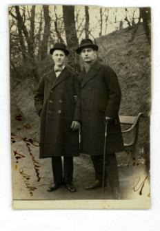 Svend to the right, 21 years old in Copenhagen