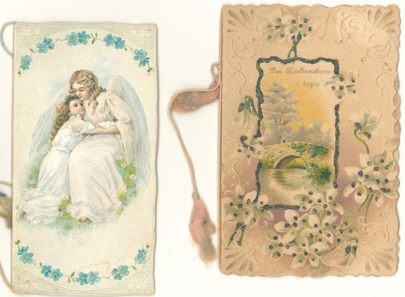 Two telegrams for my grandmother´s confirmation April 2, 1905